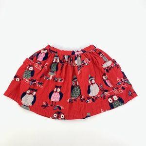 Other - Mini Boden 5-6 Year Corduroy Owl Pocket Skirt